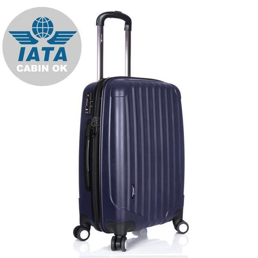 Hard Shell Cabin Suitcase 53x33x18cm 4 Double Spinner Wheels