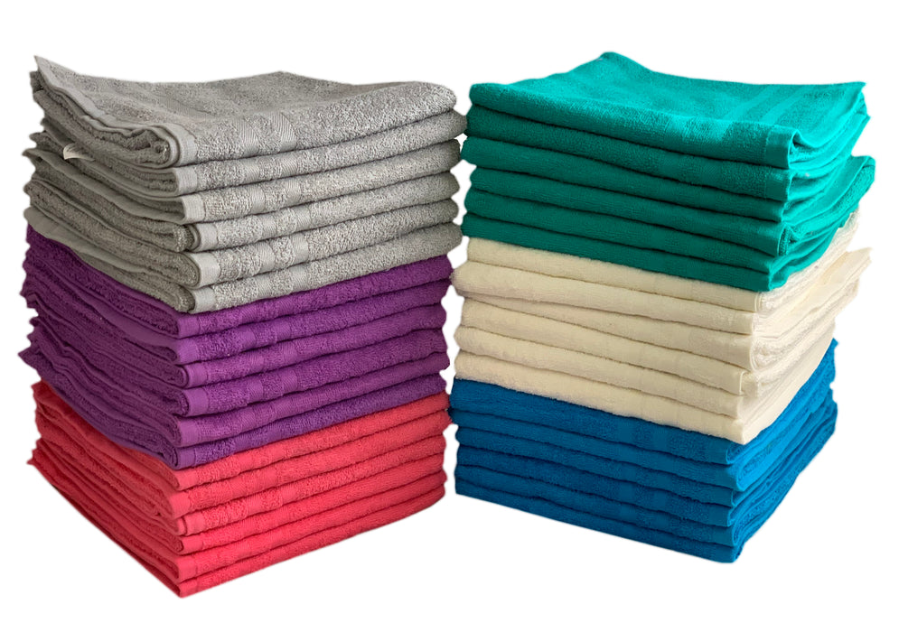 Purple Hand Towels 100% Cotton 375 gsm Set of 12