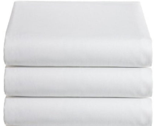 King Size Flat Top Sheet Egyptian Cotton 400 TC Percale White