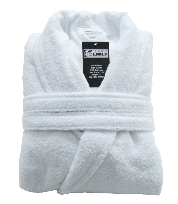 Turkish Cotton Towelling Bathrobe Dressing Gown 3 Sizes 9 Colours