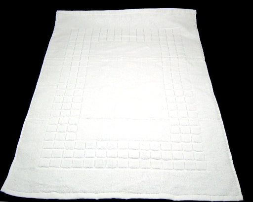 Hotel Quality White Bath Mats 100% Cotton Heavy Quality 980gsm
