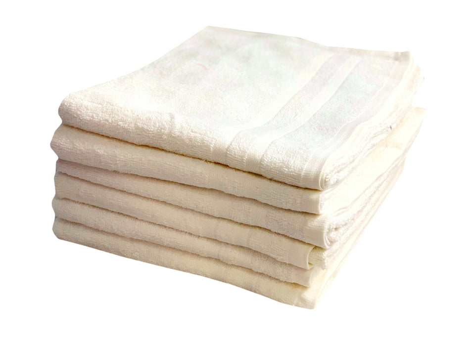 Cream Hand Towels 50 x 85cm 100% Cotton 450 gsm Packs of 6, 24 & 48
