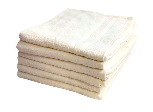 Cream Bath Towels 65 x 130cm 100% Cotton 450 gsm Packs of 3, 12 & 48