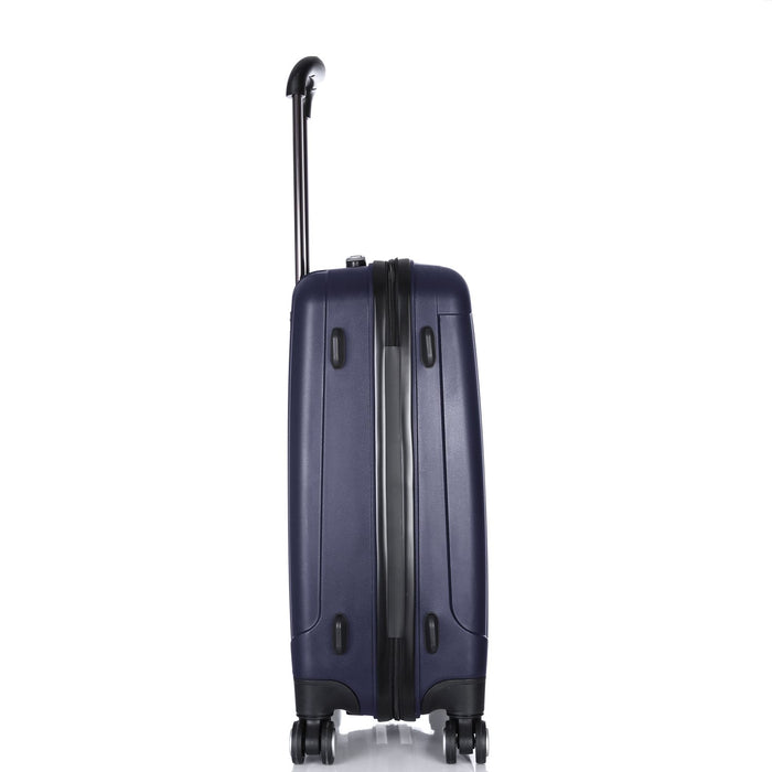 Hard Shell Suitcase Set of 3 Navy Blue Luggage X® 4 Double Spinner Wheels