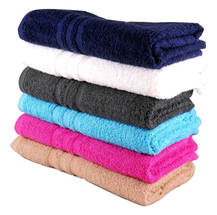 Fuchsia Pink Hand Towels Budget Quality 360 gsm Pack of 12
