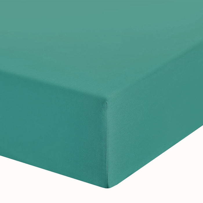 "Teal Double Bed Fitted Sheet 10"" Deep Fully Elasticated"