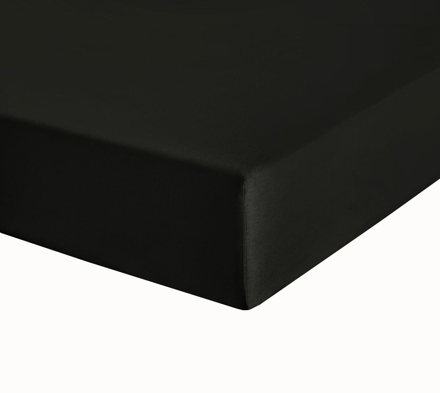 "Black Double Bed Fitted Sheet 10"" Deep Fully Elasticated"