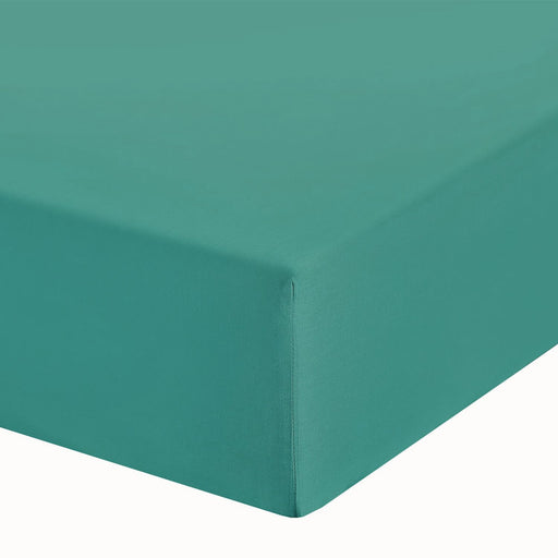 "Teal Single Fitted Sheet 10"" Deep Fully Elasticated"