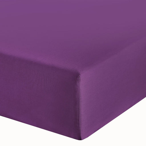 "Purple Single Fitted Sheet 10"" Deep Fully Elasticated"