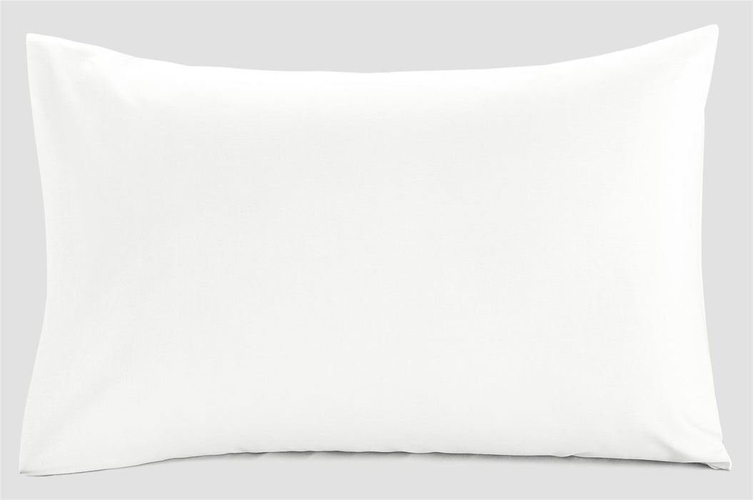 White Super Kingsize Pillowcases Pair 100% Cotton Sateen 300 TC