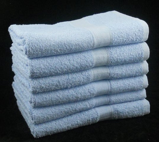 Sky Blue Bath Sheet 100% Cotton 450 gsm (Seconds)