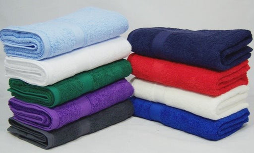 Special Offer! Pack of 4 Bath Towels 100% Cotton 500gsm Assorted Colours