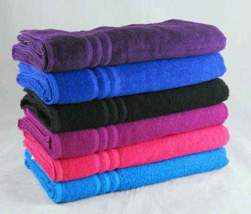 Wholesale Purple Bath Sheets Budget Quality 380 GSM Pack of 24
