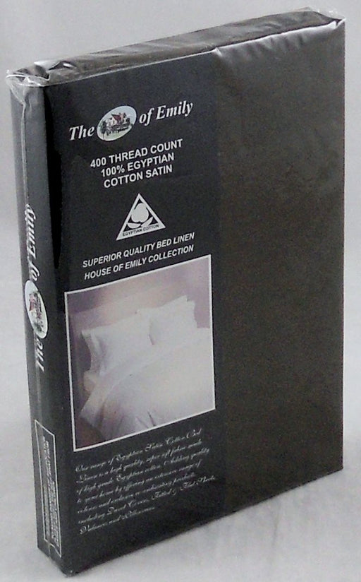 "Brown Flat Sheet Super King 114"" x 110"" Egyptian Cotton Sateen 400 Thread Count"