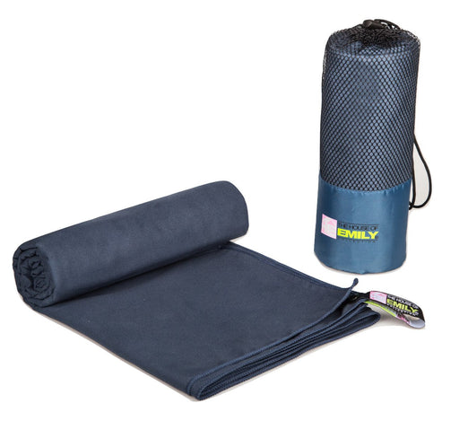 Dark Blue Extra Large 150cm x 200cm Quick Dry Microfibre Bath Beach Towel With Carry Bag