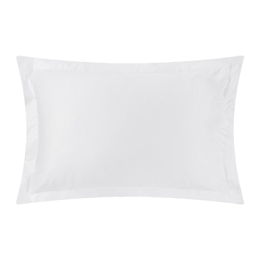 White Oxford Pillowcases 2 Pack 100% Cotton Percale 200Tc