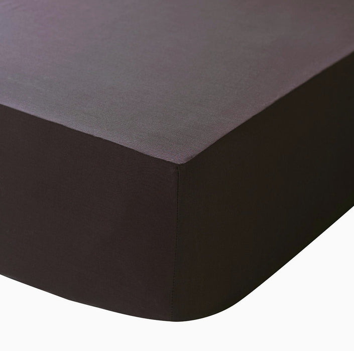 "Extra Deep King Size Fitted Sheet Dark Brown 16"" Box 200 TC"