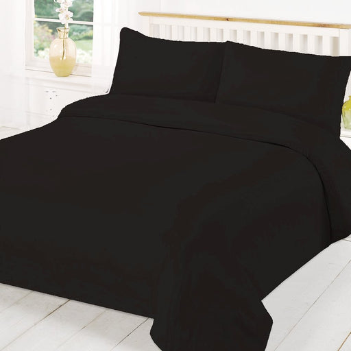 Super King Size Duvet Cover Black - 200 TC Percale