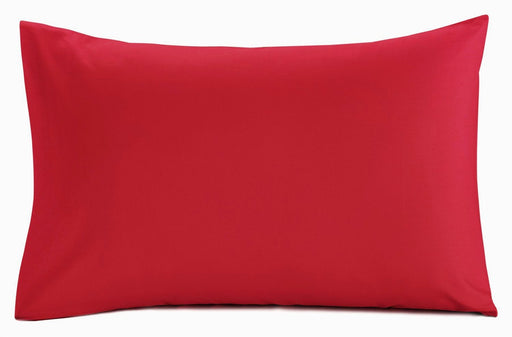 Pillowcase Pair Chilli Red Standard Size 200 TC Polycotton