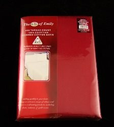 Egyptian Cotton 400Tc Sateen Pillowcases Pack of 2 Chilli Red