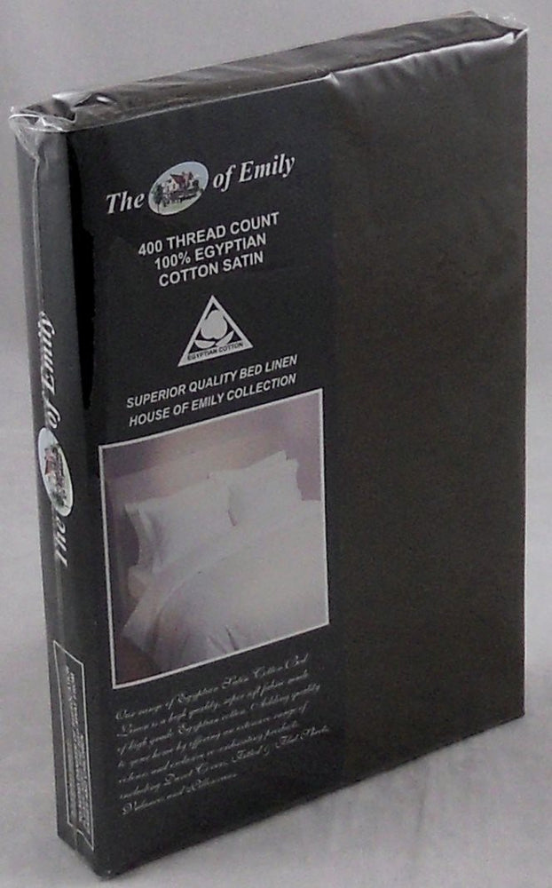 400Tc Egyptian Cotton Sateen Dark Brown Pillowcases Set of 2