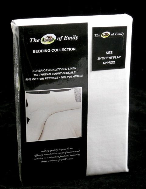 Extra Long Pillow Case 6 FT Length White Polycotton