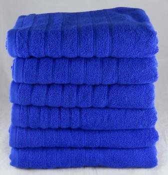 Egyptian Cotton Face Towels 12 Pack 525 gsm Royal Blue
