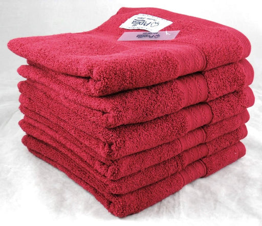 Red Bath Towels Zero Twist Turkish Cotton 500gsm