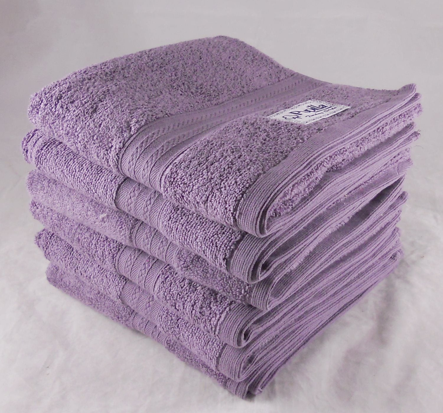 Mulberry Purple Zero Twist Bath Towels Turkish Cotton 500gsm Pack of 3