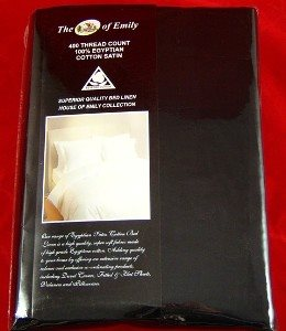 Black Egyptian Cotton Duvet Cover Set King Size 400 Thread Count