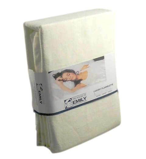 Electric Bed Brushed Cotton Fitted Sheet Cream 3ft x 6ft 6""
