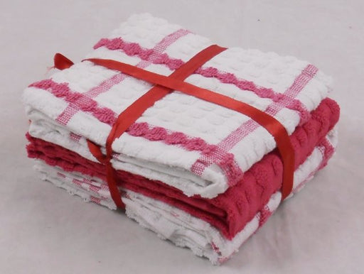 Dark Pink Tea Towels 100% Cotton Pack of 6