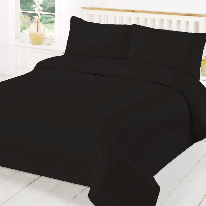 Black Duvet Cover Set Double Size