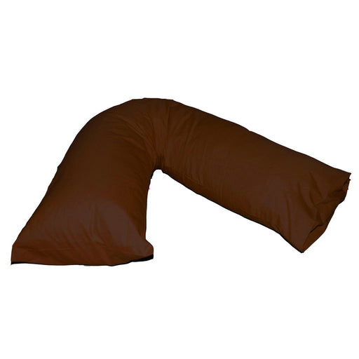 V Shaped Pillow Case Brown EasyFit