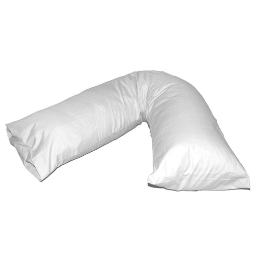 V Shaped Pillowcase White Easy Fit