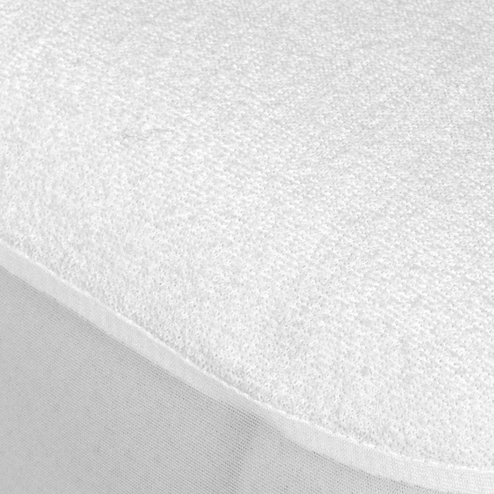 "Single Bed Waterproof Mattress Protector 14"" Extra Deep Terry Towelling Breathable"