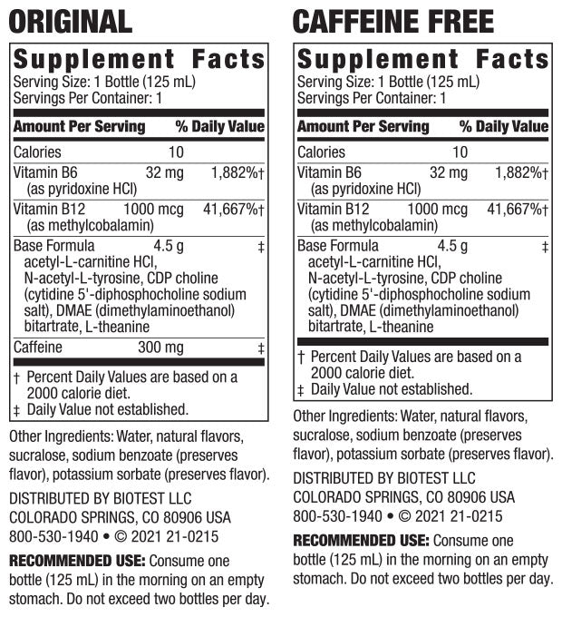 Brain Candy Supplement Facts