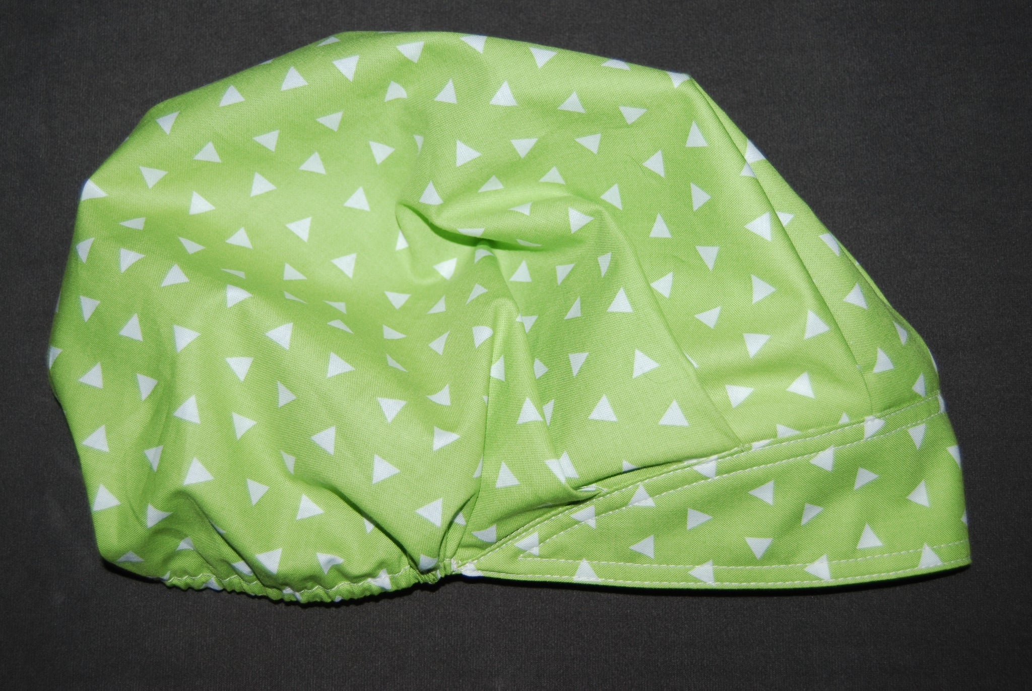 Triangle Lime Bouffant Scrub hat with Sweatband
