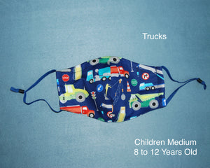 Trucks Children Face Mask