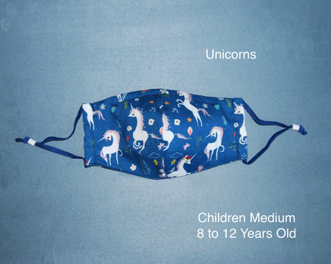 Unicorns Children Face Mask