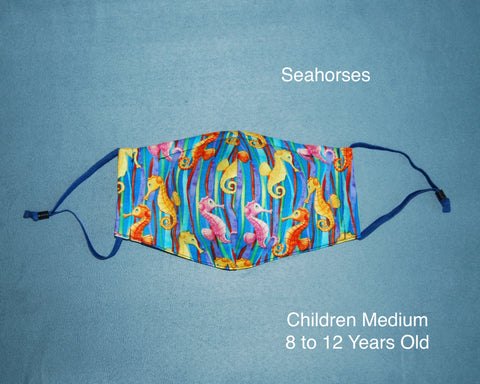 Seahorses Children Face Mask
