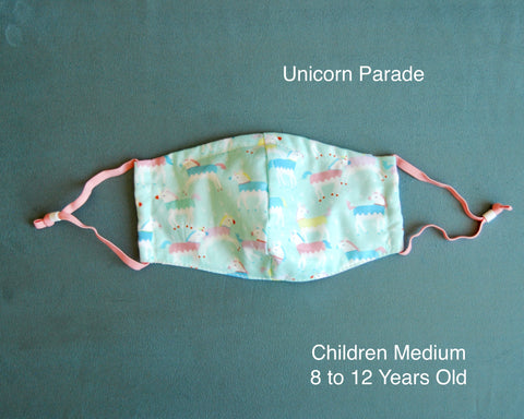Unicorn Parade Children Face Mask