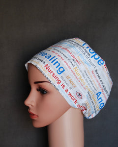 Work of the Heart Snappi Scrub Hat