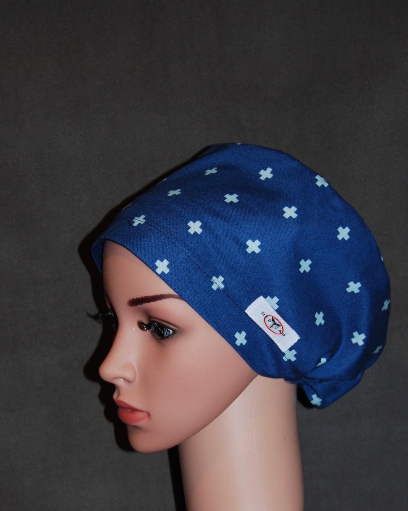 Cross Blue Snappi Scrub Hat