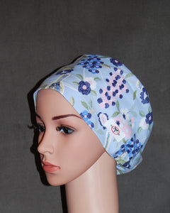 Blue Bird Garden Snappi Scrub Hat
