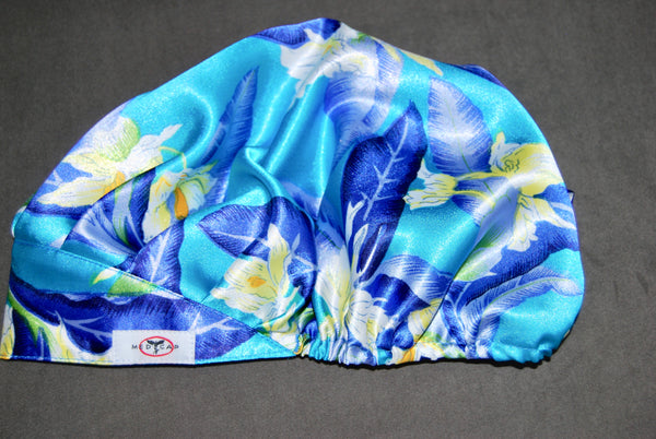 Summer Wildflowers Satin Pleated Scrub Hat