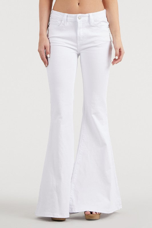 Walk This Way White Flare Jeans