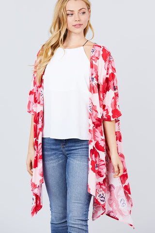 Just My Type Kimono in Red