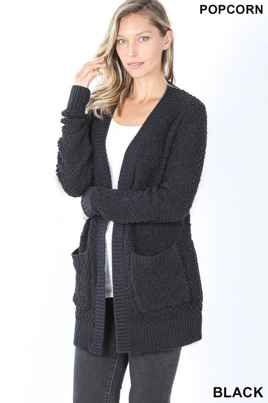 The Whitney Cardigan in Black