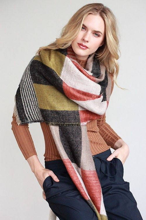 Olive Colored Oversized Scarf